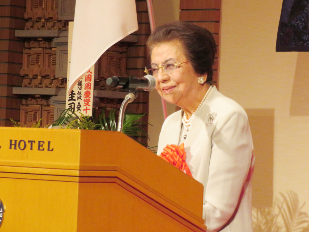 駐日代表處4日晚間在東京舉辦國慶酒會。 中央社記者楊明珠東京攝 107年10月4日