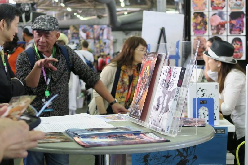 紐約動漫展當地時間4日開幕,11家台灣動漫業者參展,在曼哈頓94號碼頭的副展區設立攤位。(中央社)