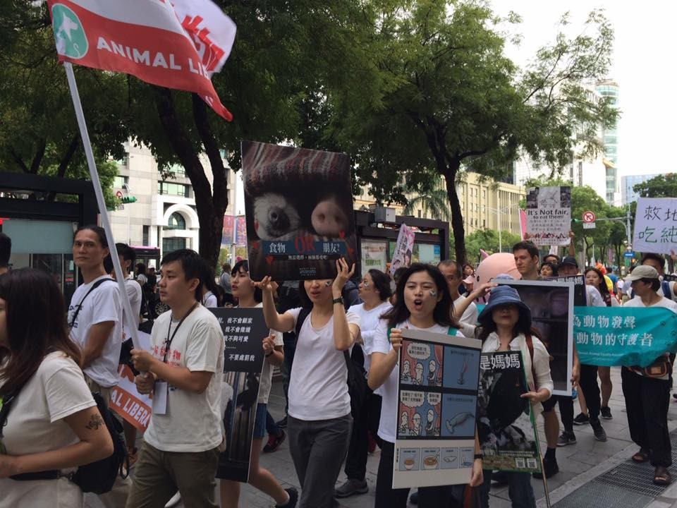 Taiwan Animal Rights March on Oct. 6, 2018 (Image from 關懷生命協會's Facebook)