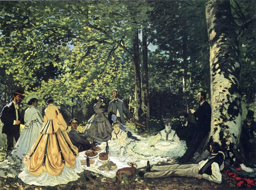 """Luncheon on the Grass"" by Claude Monet (image from WikiArt)"