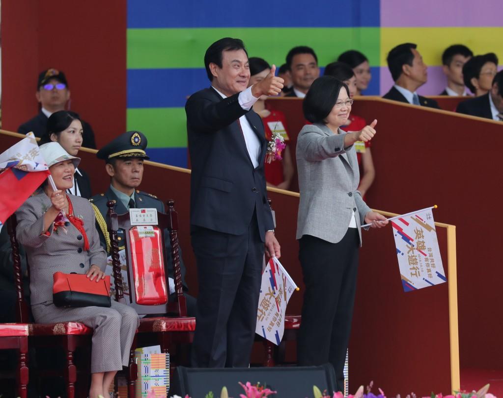 總統蔡英文今10日出席國慶大會並發表演說(照片來源:中央社提供)