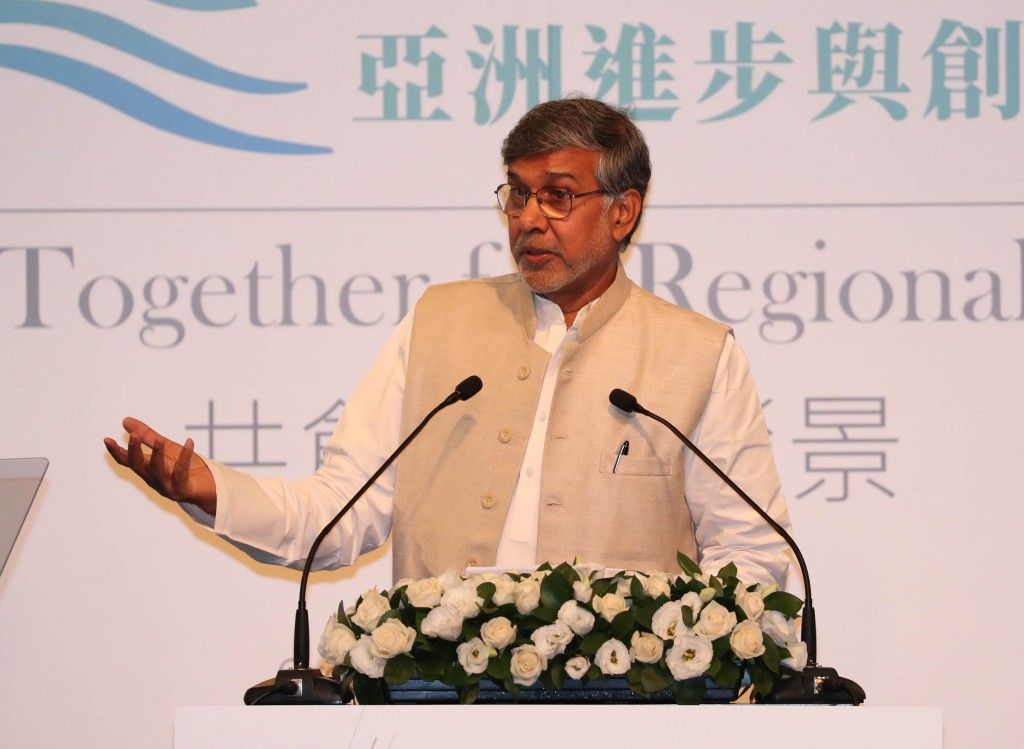 2014年諾貝爾和平獎得主 凱拉許.沙提雅提(Kailash Satyarthi)(圖片來源:中央社)