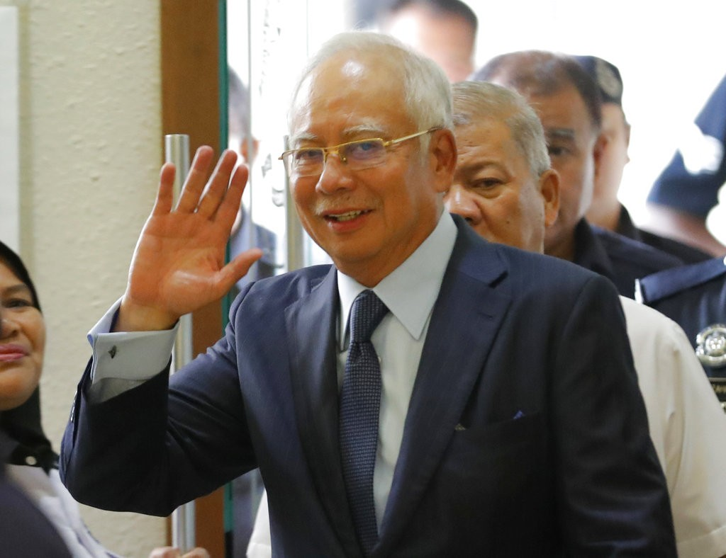 馬來西亞前首相納吉。(美聯社)