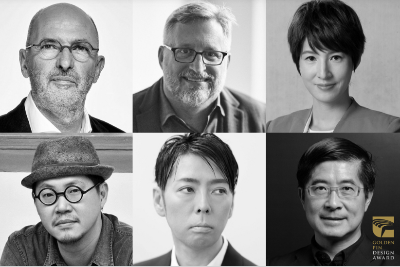 Clockwise from top left: Ad van Berlo, Edmond Bakos, Lulu Hsia, Chris Lee, Kashiwa Sato, Chiyi Chang (Image from Golden Pin Design Award website)