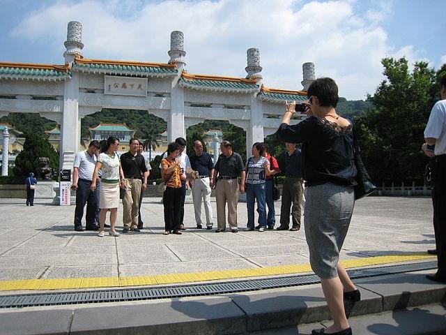 Tourists at National Palace Museum, Taipei