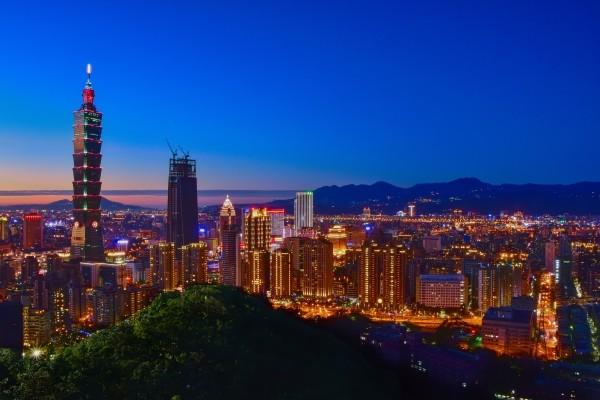 Taipei City skyline.