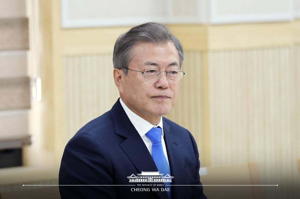 (翻攝自南韓總統府臉書)
