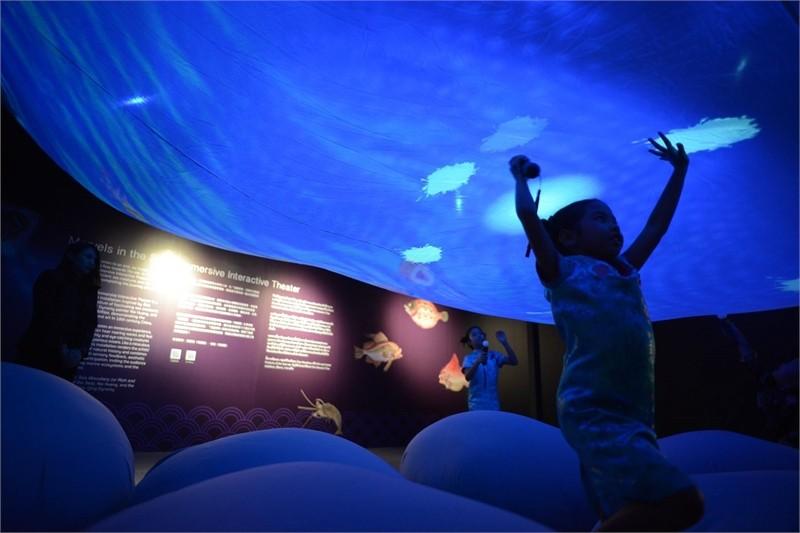 故宮於泰國曼谷推出「清明上河圖—故宮新媒體藝術展」(照片來源:故宮博物院提供)