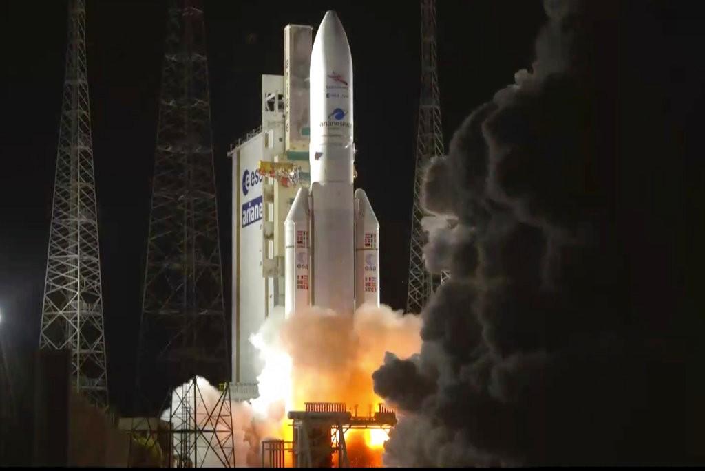 亞利安火箭搭載Bepi與MIO探測器,前往探究水星奧秘(圖片來源:美聯社)