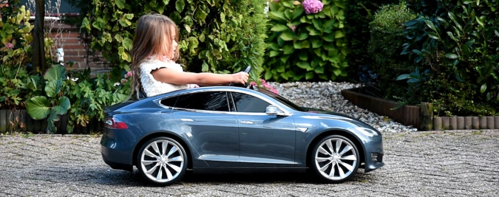 Tesla Model S for Kids (Screen capture from Tesla Taiwan)