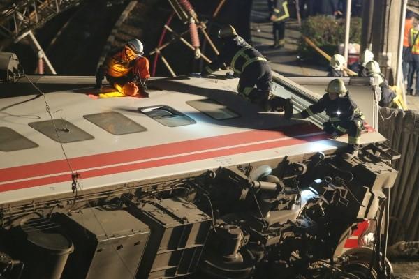 Rescue efforts last night.