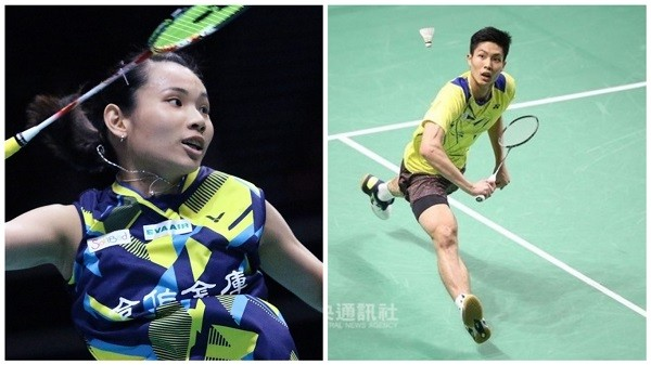 Tai Tzu-ying (left), Chou Tien-chen (right) (modified)