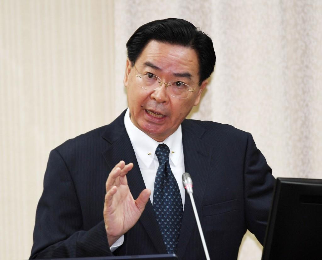 外交部長吳釗燮22日在立法院備詢(照片來源:中央社提供)