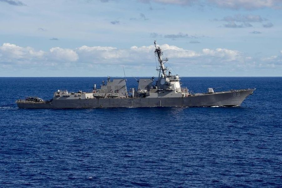 US Navy vessel DDG-89, which sailed through the Taiwan Strait in July, 2018 (Image by navy.mil)