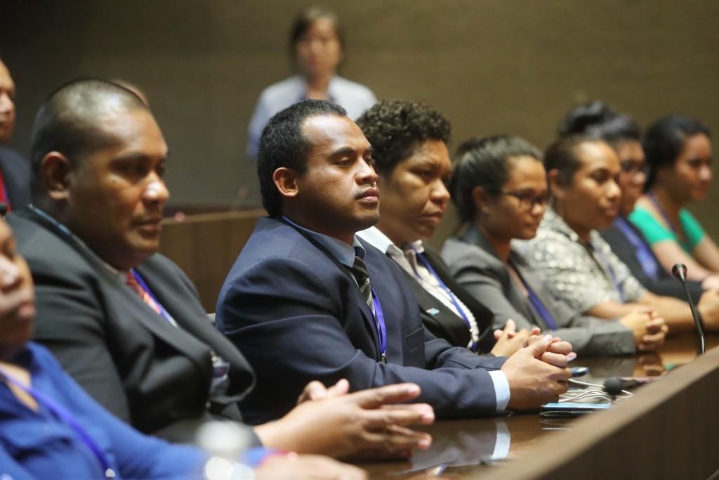 圖為9月17日太平洋島國青年領袖培訓計畫團員出席開訓典禮(照片來源:資料照片/外交部提供)
