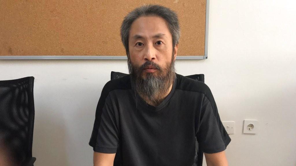 日本記者安田純平遭敘利亞武裝組織綁架。(美聯社)