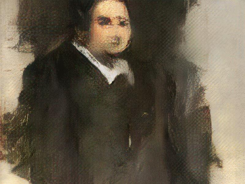 AI繪製「艾德蒙貝拉米肖像」(Portrait of Edmond Belamy)(圖/Obvious藝術組織)