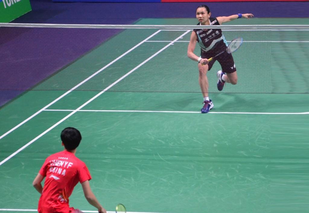 世界排名第一的台灣羽球選手戴資穎27日在法國羽球公開賽中再下一城,取得決賽資格,繼去年於這項賽事奪冠後,尋求衛冕。中央社記者曾依璇巴黎攝