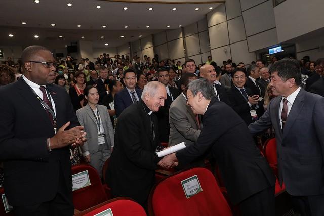 陳建仁副總統今(28)日上午出席「2018 臺灣全球健康論壇」(照片:總統府提供)