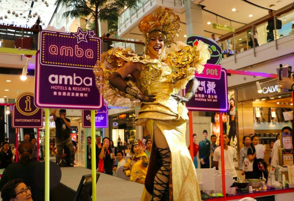 泰國知名變裝皇后 Pan Pan 為臺北量身訂做精彩的主題秀,受現場粉絲及民眾熱情歡迎(圖/觀傳局)