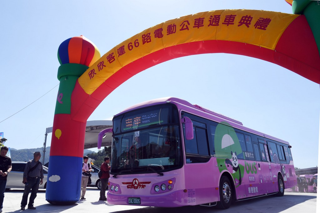 Taipei's No. 66 bus route will be fully serviced by electric buses
