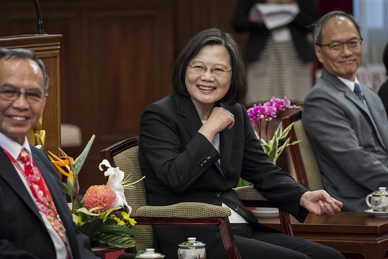 Tsai meets with delegation of Taiwanese Hakka Federation of Asia (Photo/Office of the President)