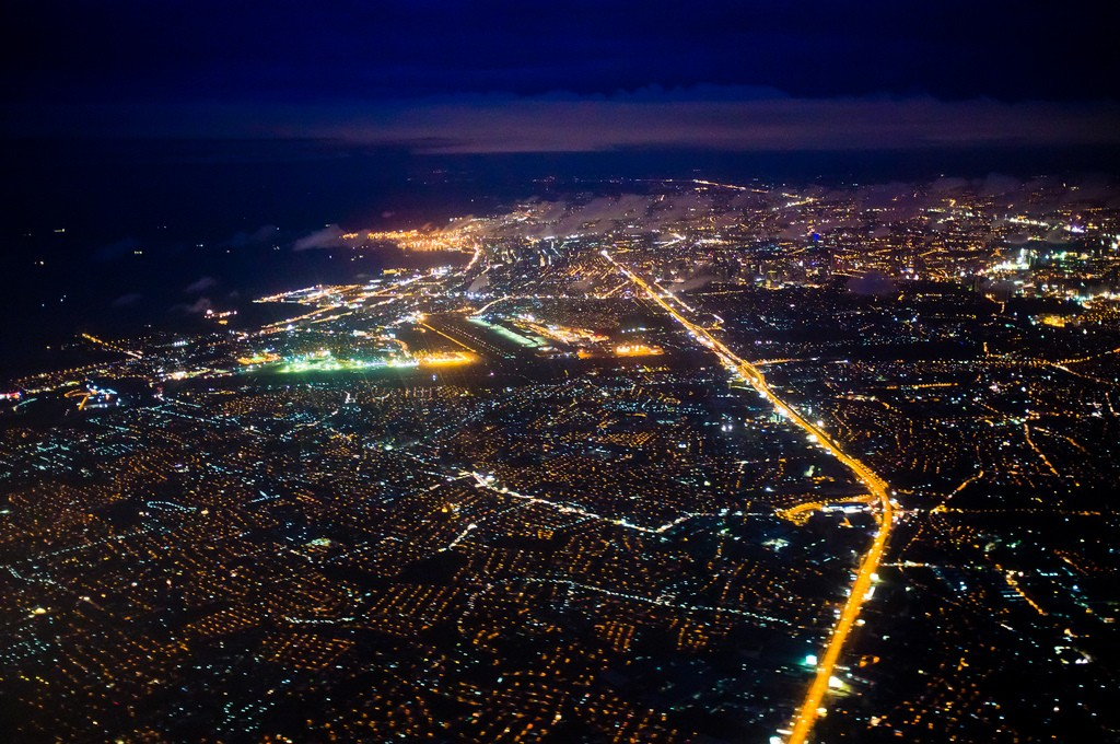 Philippines capital Manila at night (Flickr/Benson Kua)