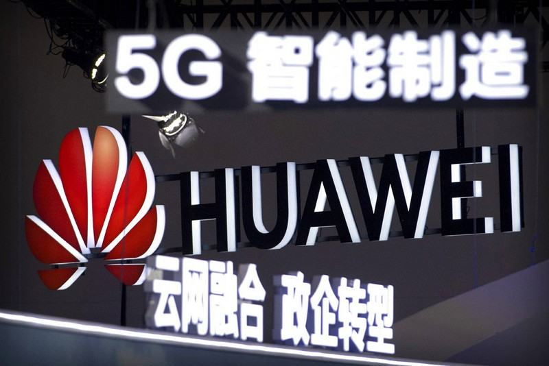 Signs promoting Huawei (Photo/AP)
