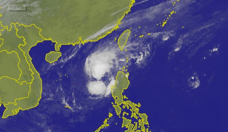 玉兔颱風最新空拍圖(圖片取自氣象局)
