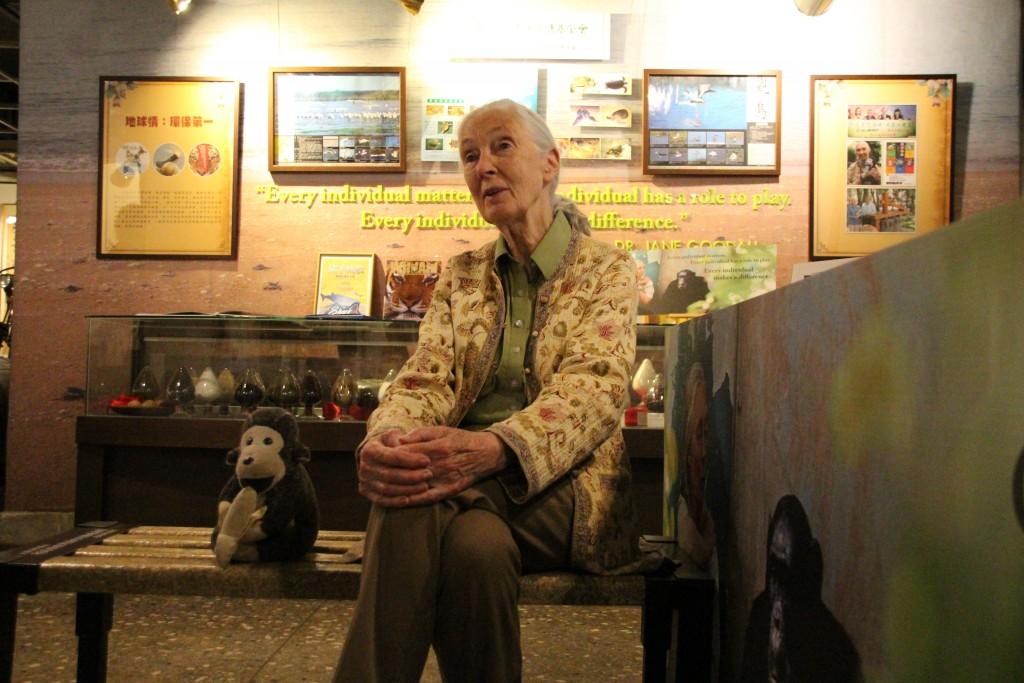 國際知名黑猩猩專家珍古德博士(Dr. Jane Goodall)