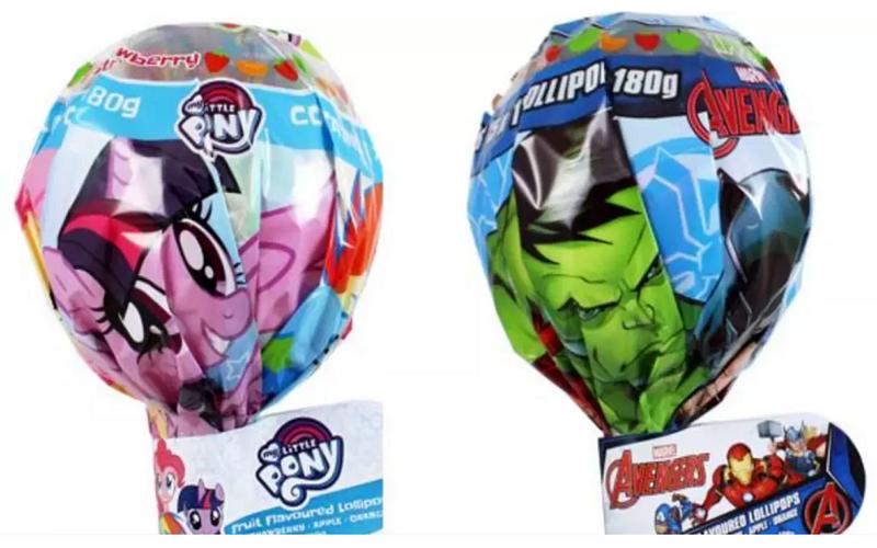 中國製My Little Pony與Avengers Giant Pops棒棒糖傳食安疑慮(圖/澳洲食品標準局)