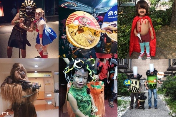Six finalists from Taiwan News Halloween photo competition.