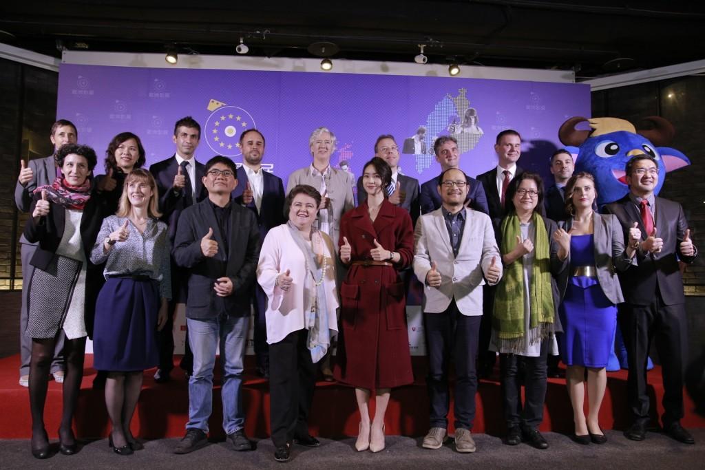 2018年歐洲影展2日在臺北舉行開幕記者會(照片來源:杰德影音提供)