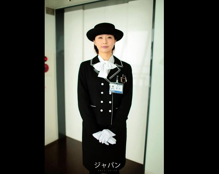 日本電梯小姐(圖/臉書楊朝麟)