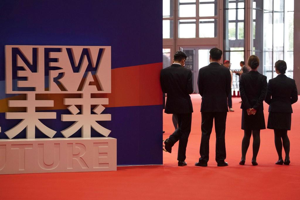 中國上海舉辦的進博會現場(圖片來源:美聯社)