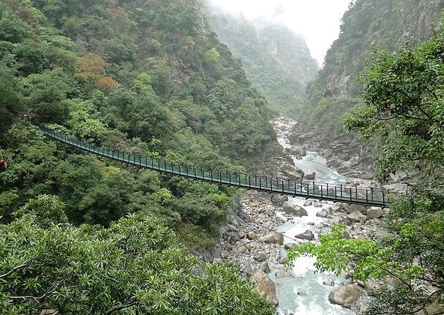 Footbridge in Taroko National Park