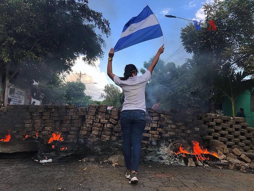 尼加拉瓜自4月以來,因民眾反年改爆發大規模示威抗議,造成社會動盪(照片來源:Wikimedia Commons/ Voice of Ame