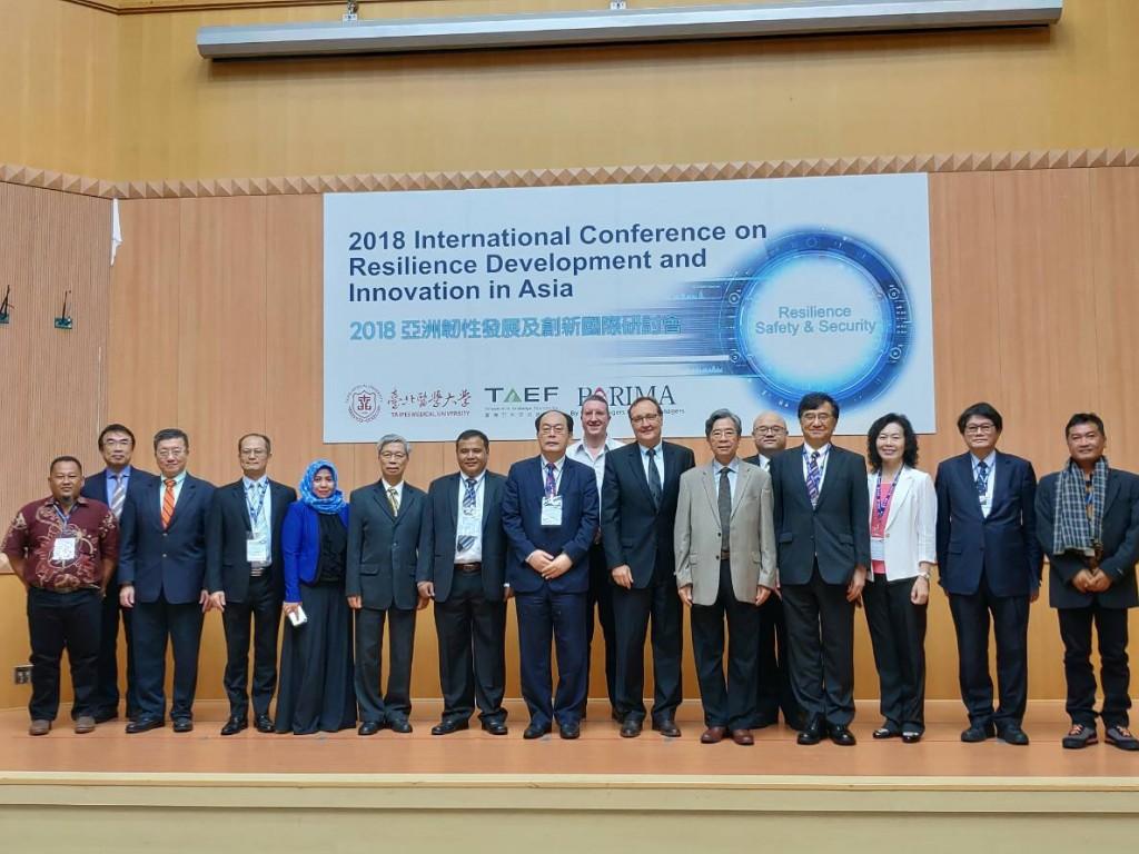 臺灣亞洲交流基金會於5日舉辦2018亞洲韌性發展及創新國際研討會(照片來源:臺亞基金會提供)
