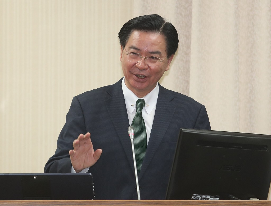 Foreign Minister Joseph Wu at the Legislative Yuan Wednesday.