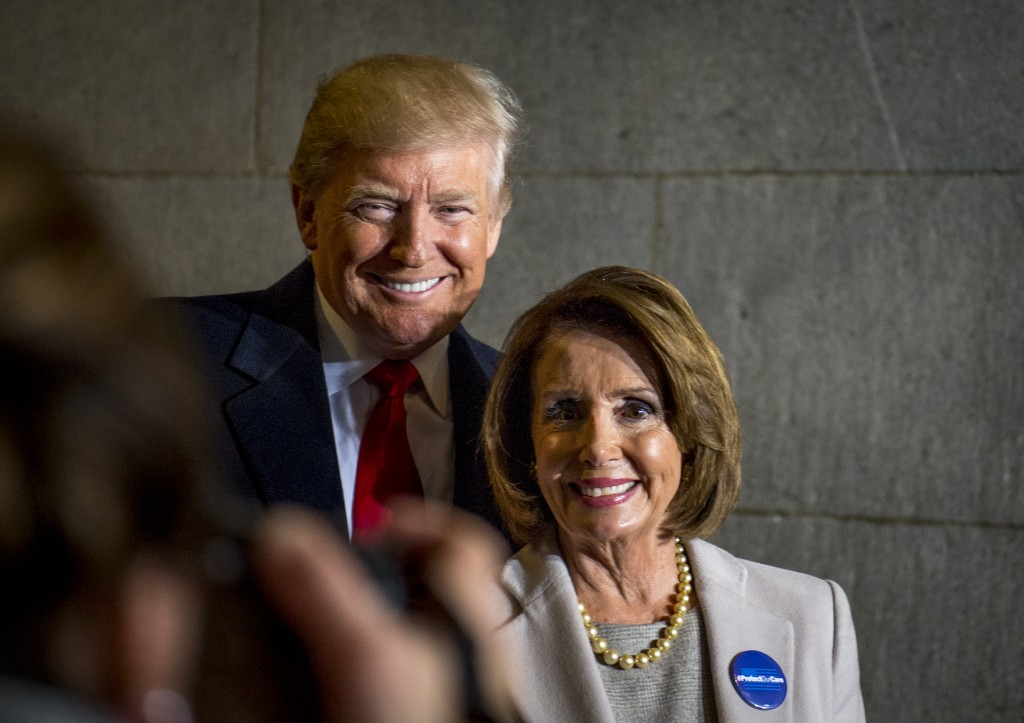 President Trump (left) and Congresswoman Pelosi (right)