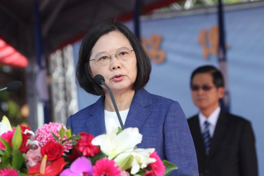 Tsai Ing-wen speaking in Kaohsiung on Nov. 8 2018