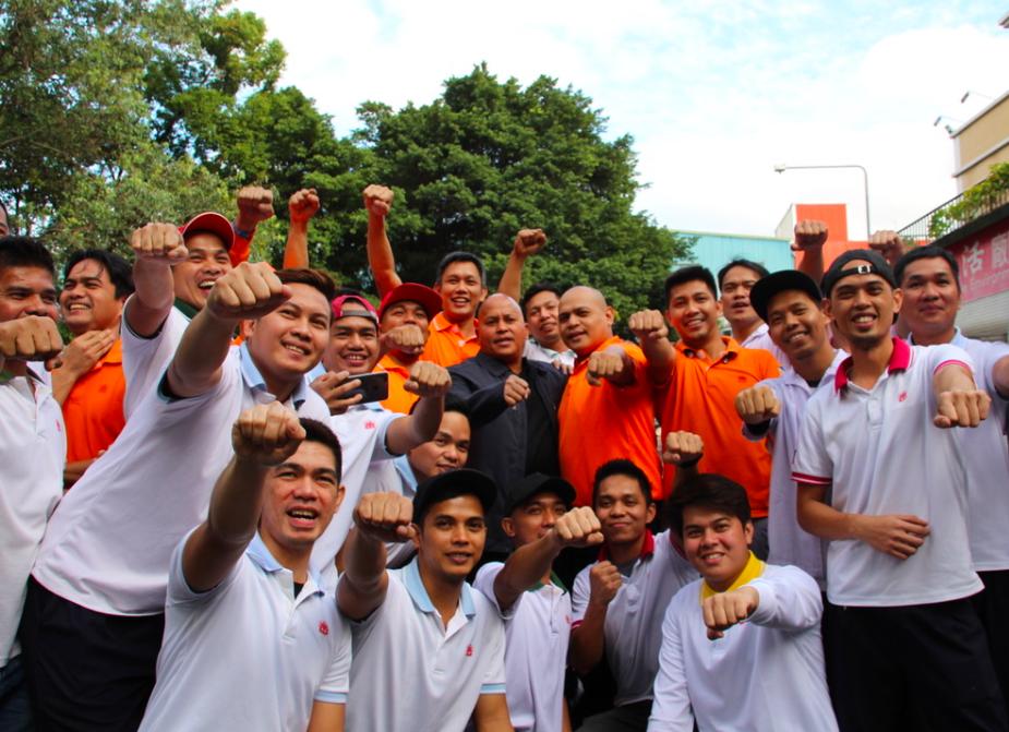 菲律賓矯正司首長至義美關懷菲籍員工,呼籲遠離毒品(圖/台灣英文新聞)