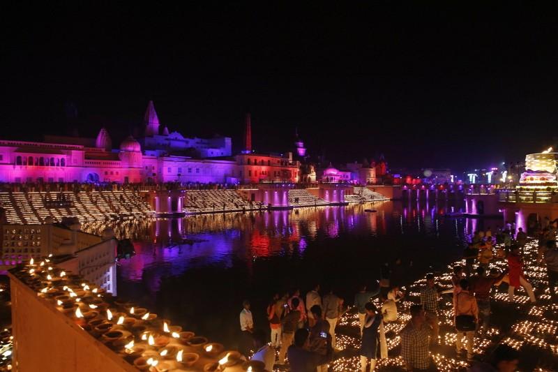 印度慶排燈節(美聯社)