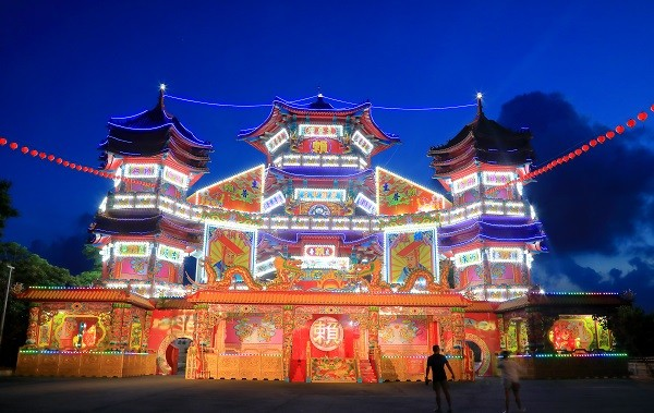 Zhupu Altar is the main venue for Keelung Ghost Festival events. (Taiwan Today Image)