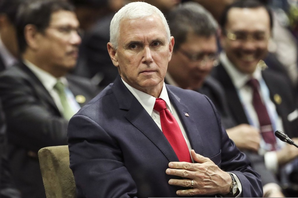 US VP Mike Pence at ASEAN Summit in Singapore Nov. 15