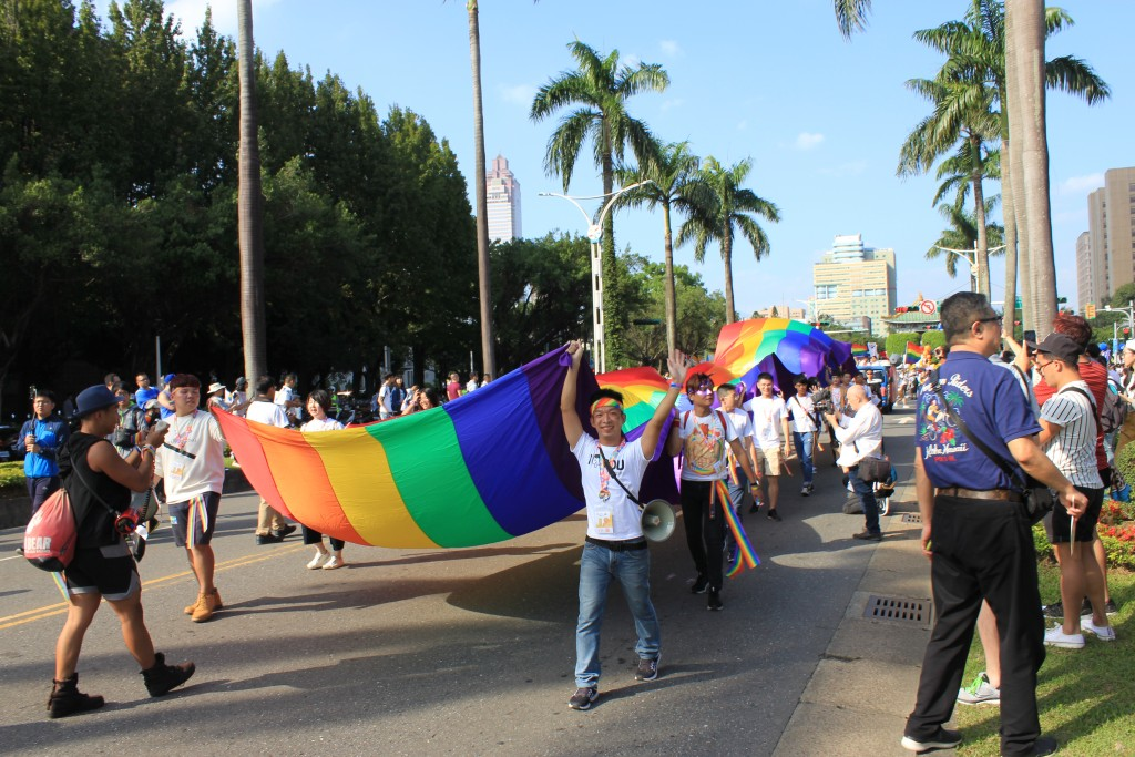 Marchers at the 2018 Taiwan LGBT Pride