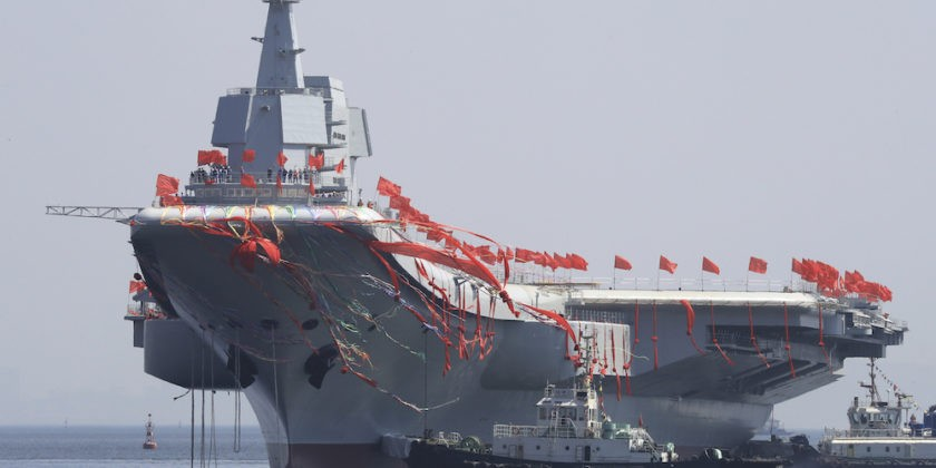 China's Type 001 aircraft carrier