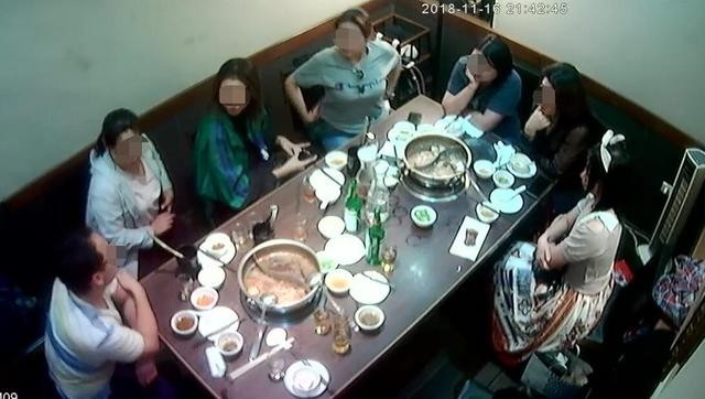 Surveillance camera footage from restaurant.
