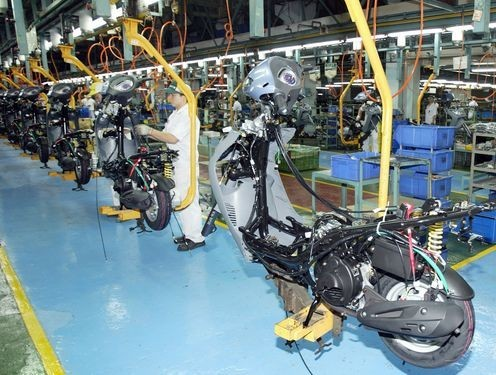 File photo: scooter factory