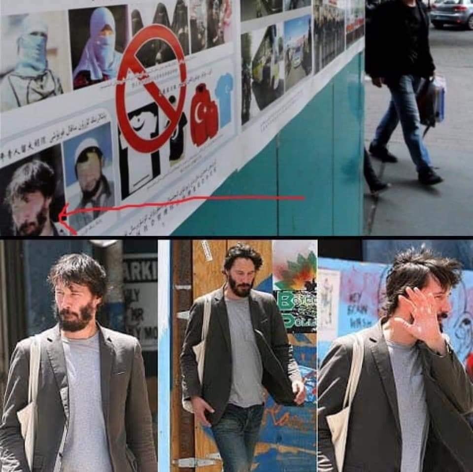 Keanu Reeves spotted in Chinese anti-Muslim p      Taiwan News